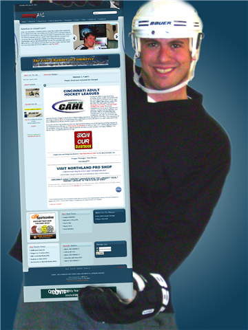 Eppley Holding his CAHL website 2011