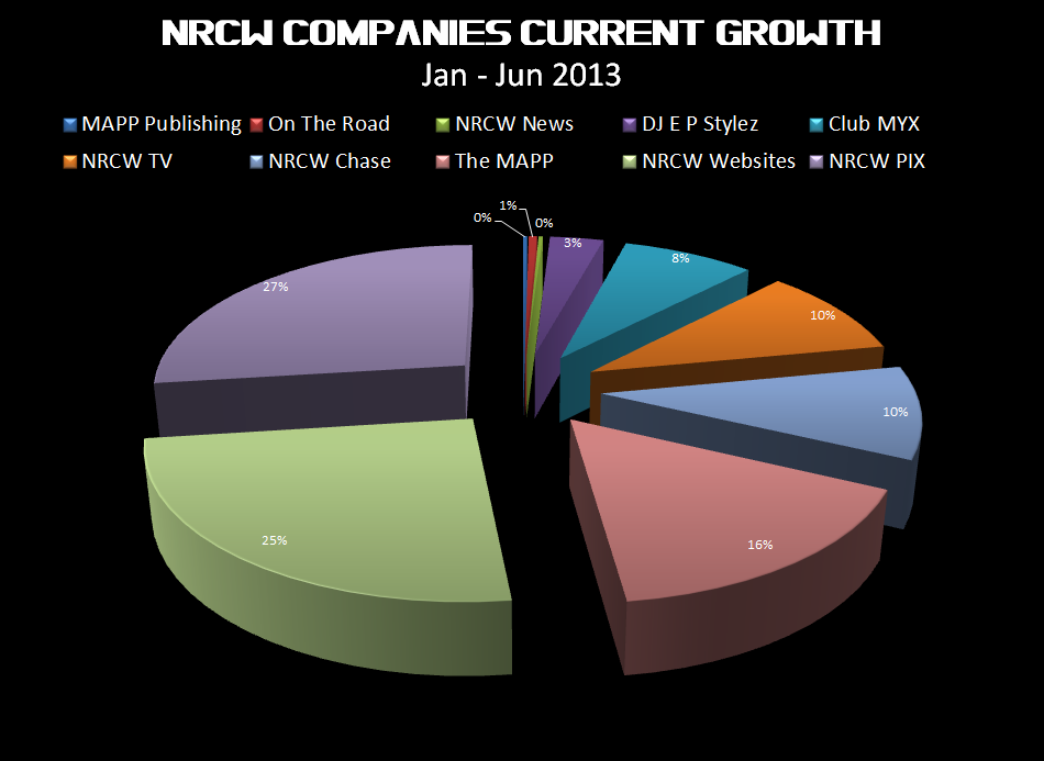 First Half 2013 NRCW Companies Growth By Division